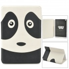 Kadingqi Cute Panda Style Protective PU Leather + Plastic Case for Ipad MINI - White + Black