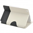 Kadingqi Cute Panda Style Suojaava PU Leather + Plastic Case for iPad Mini - Valkoinen + Musta