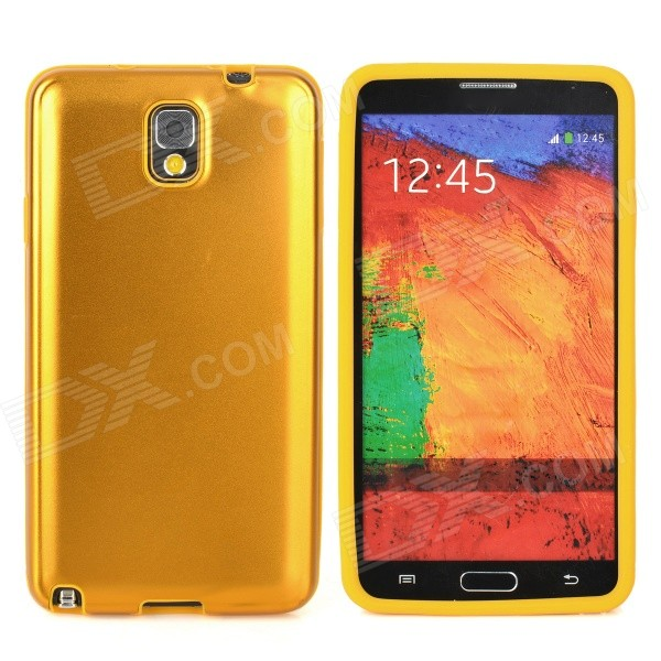 Protective Silicone + Aluminium Case for Samsung Galaxy Note 3 N9000 - Golden metal ring holder combo phone bag luxury shockproof case for samsung galaxy note 8