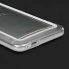 Protective Plastic Bumper Frame for HTC One - White + Transparent