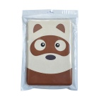Kadingqi Cartoon Bear Style Protective PU Leather + Plastic Case for Ipad MINI - Beige + Brown