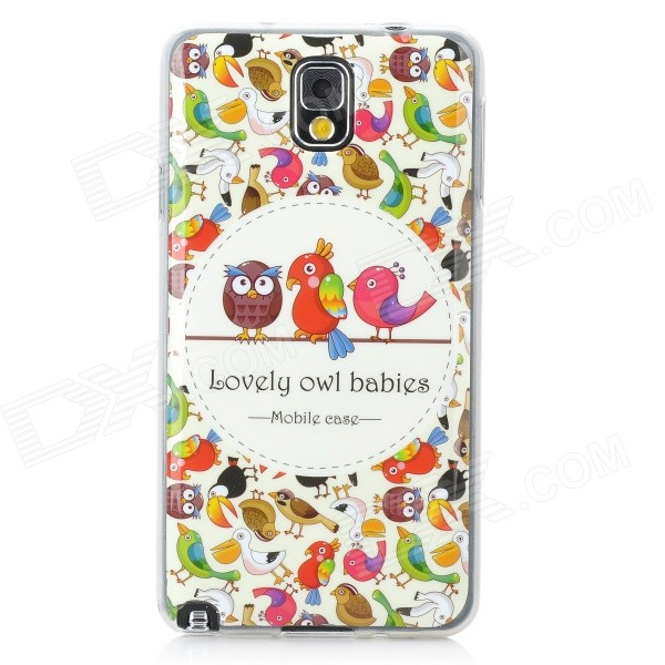Birds Pattern Protective PVC Case for Samsung Galaxy Note 3 N9000 / N9002 birds pattern protective pvc back case for samsung galaxy note 3 n9000 n9002 more multicolored