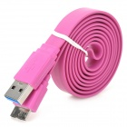 USB 2.0 to Micro-B USB 3.0 Data Charging Flat Cable for Samsung Galaxy Note 3 / N9000 - Purple (1m)