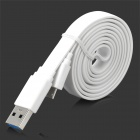 Micro-B USB 3.0 8-Pin Data Charging Flat Cable - White (97cm)