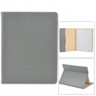 bnm23 Ultra Thin Embossing Smart PU Leather Case w/ Card Slot for Ipad 2 / 3 / 4 - Grey