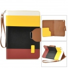 ZS0012 Protective PU Leather Case w/ Auto Sleep for Retina Ipad MINI - White + Yellow + Black + Red