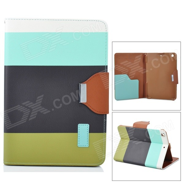 ZS0012 Protective PU Leather Case w/ Auto Sleep for Retina Ipad MINI - White + Blue + Black + Green zs0012 protective pu leather case w auto sleep for retina ipad mini white deep pink yellow