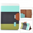 ZS0012 Protective PU Leather Case w/ Auto Sleep for Retina Ipad MINI - White + Blue + Black + Green