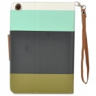 ZS0011 Protective PU Leather Case w/ Auto Sleep for Ipad MINI - White + Blue + Black + Green