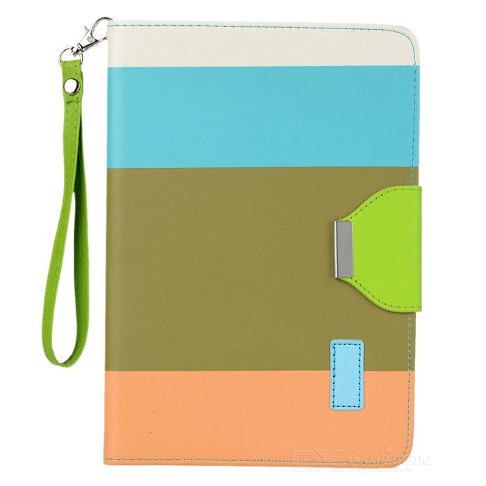 Contrast Color Style PU Leather Case for Retina Ipad MINI - White + Blue + Brown + Orange мембрана новая вода к 868 нв мм1 ос