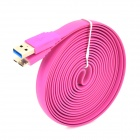 USB to Micro USB 3.0 9-Pin Data/Charging Flat Cable for Samsung Galaxy Note 3 N9000 - Purple (300CM)