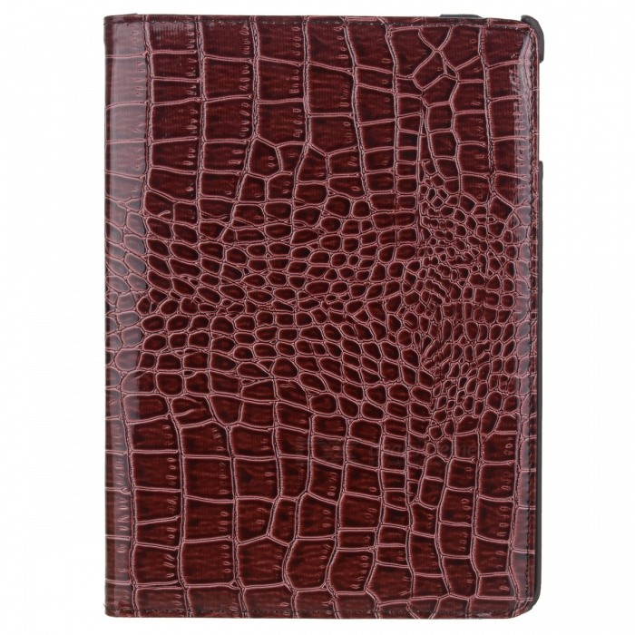 Alligator Pattern 360 Degree Rotatable PU Leather Case for Ipad AIR - Brown