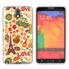 Graffiti Happy Time Style Protective PVC Back Case for Samsung Galaxy Note 3 N9000 - Beige