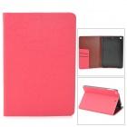 Protective PU Leather Case w/ Card Slot for Ipad MINI 2 - Deep Pink