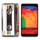 Retro Cassette Tape Style Plastic Back Case for Samsung Galaxy Note 3 N9000 - Black + White + Grey