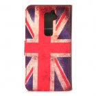 Protective UK Flag Pattern PU Leather Case for LG G2 - Red + White + Blue