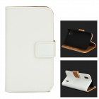 Protective PU Leather Case w/ Card Holder Slots for LG Nexus 4 E960 - White