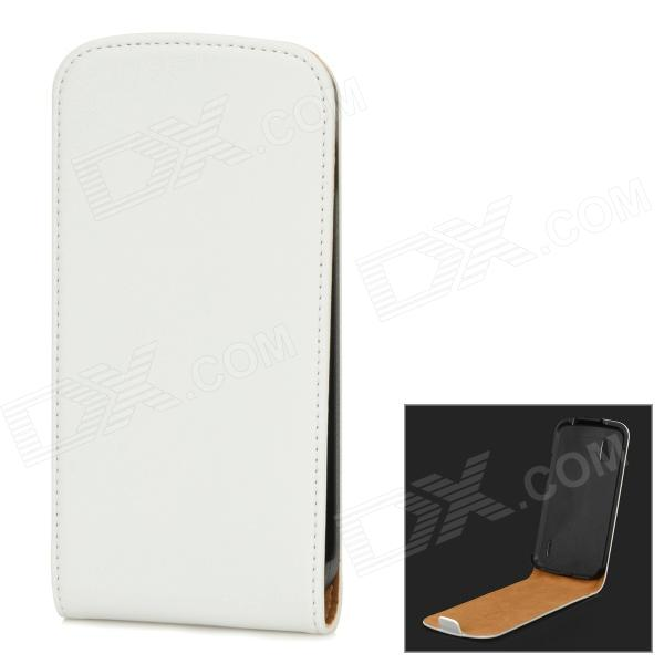 Protective Flip-Open PU Leather Case for LG Nexus 4 E960 - White protective flip open pu leather case w card slot for lg e960 nexus 4 white