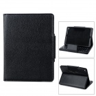 Stylish Removable Bluetooth v3.0 64-Key Keyboard + PU Case for Ipad AIR - Black