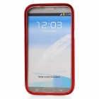 Zomgo Colorful Metal Pull-out Protective Bumper for Samsung GALAXY Note 2 / N7100 - Red