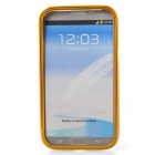 Zomgo Colorful Metal Pull-out Protective Bumper for Samsung GALAXY Note 2 / N7100 - Yellow