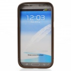 Zomgo Bunte Metall Pull-out Protective Bumper für Samsung GALAXY Note 2 / N7100 - Braun