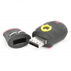 Cartoon Pig Style USB Flash Drive - Black + Red (8GB)