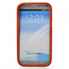 Zomgo Colorful Metal Pull-out Protective Bumper for Samsung GALAXY Note 2 / N7100 - Orange
