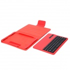 Stylish Removable Bluetooth v3.0 64-Key Keyboard + PU Case for Ipad AIR - Red + Black