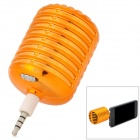 Microphone Style Rechargeable 3.5mm Plug Speaker for Iphone - Golden
