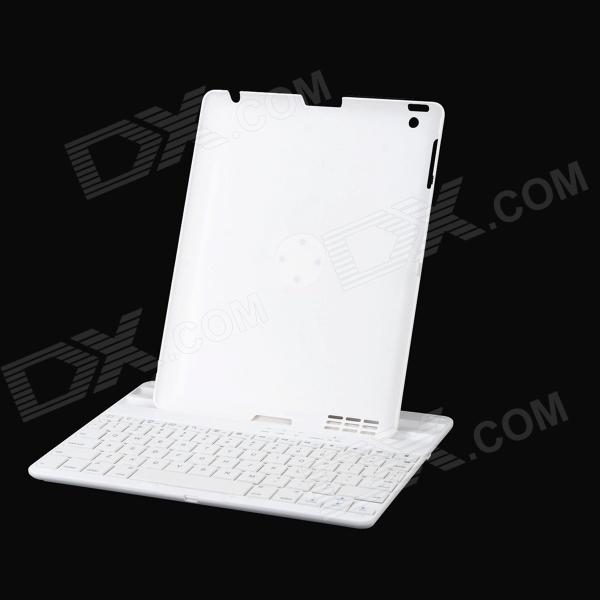 YD K356 Bluetooth v3.0 78-Key Keyboard + 360 Degree Rotational ABS Case for Ipad 2 / 3 / 4 - White