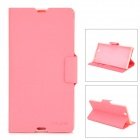 MEILAITE LX-39MLT Protective PU Leather Case w/ Card Slot for Sony XL39h Xperia Z Ultra - Pink