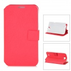 Silk Style Protective PU Leather Case for Samsung Galaxy Note 2 N7100 - Red