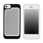 Stylish Protective Plastic + TPU Bumper Frame Case for Iphone 5 - White + Black