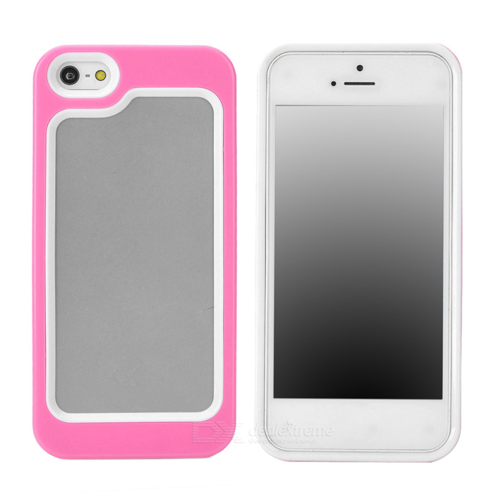 Stylish Protective Plastic + TPU Bumper Frame Case for Iphone 5 - Pink + White stylish protective plastic bumper frame case for iphone 5c beige black