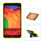 Stylish Protective Back Case w/ Stand for Samsung Galaxy Note 3 N9000 - Black + Yellow