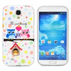 Cute Owl Family Style Protective Silicone Back Case for Samsung Galaxy S4 i9500 - White + Multicolor