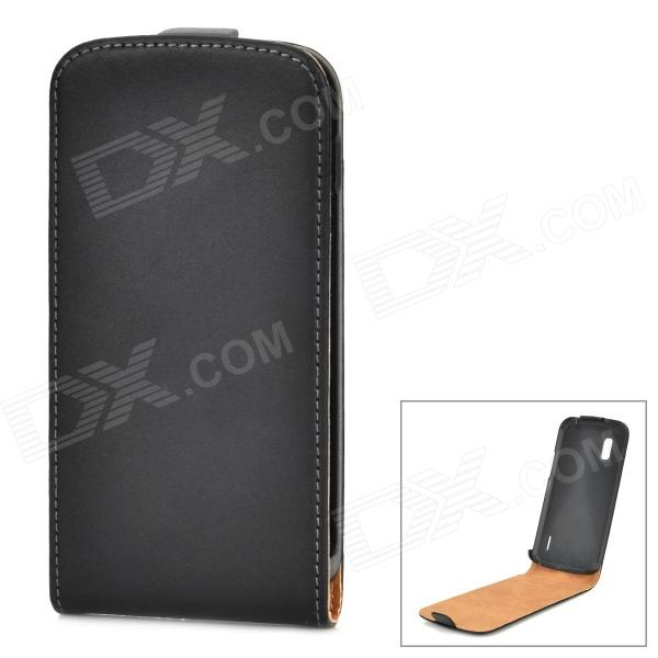 Protective Flip-Open PU Leather Case for LG Nexus 4 E960 - Black protective flip open pu leather case w card slot for lg e960 nexus 4 white