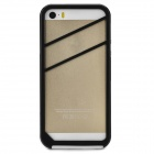 Stylish Protective Silicone + PVC Bumper Frame Case for Iphone 5S - Black + White