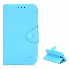 Stylish Protective PU Leather Case for Samsung Galaxy Note 3 N9000 / N9005 / N900A / N9002 - Blue