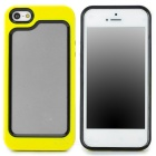 Stylish Protective Plastic + TPU Bumper Frame Case for Iphone 5 - Yellow + Black