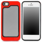 Stylish Protective Plastic + TPU Bumper Frame Case for Iphone 5 - Red + Black