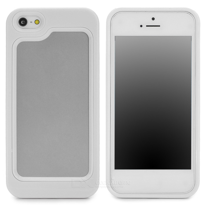 Stylish Protective Plastic + TPU Bumper Frame Case for Iphone 5 - White stylish protective plastic bumper frame case for iphone 5c beige black
