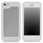 Stylish Protective Plastic + TPU Bumper Frame Case for Iphone 5 - White