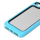 Stylish Protective Plastic + TPU Bumper Frame Case for Iphone 5 - Blue + Black