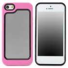 Stylish Protective Plastic + TPU Bumper Frame Case for Iphone 5 - Pink + Black