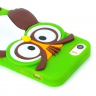 Cute Cartoon Owl Style Silicone Back Case for Iphone 5 / 5s - Green