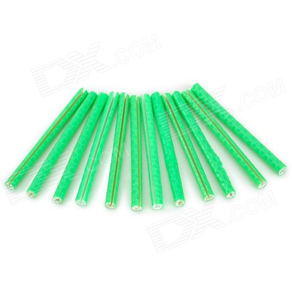 все цены на  304105 Universal Reflective Spoke Tube for Bicycle - Green (12 PCS)  в интернете