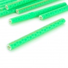 Universal Reflective Spoke Tube for Bicycle - Green (12 PCS)
