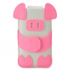 BUBM Cartoon Piggy Stil Filzstoff Fall für Iphone 4/5 / 5c / 5s - Pink + White
